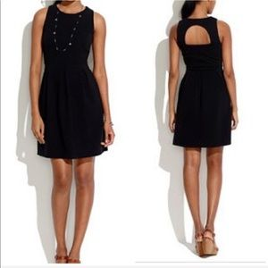Madewell • Black half moon skater dress